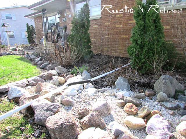 Designing and DIY a river creek bed to help divert water from away from the house