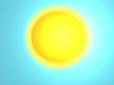 Sun Digital Drawing