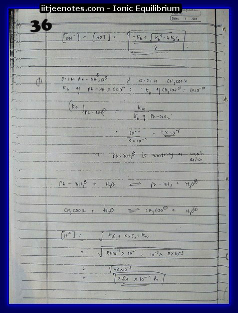 Ionic Equilibrium Notes IITJEE 4