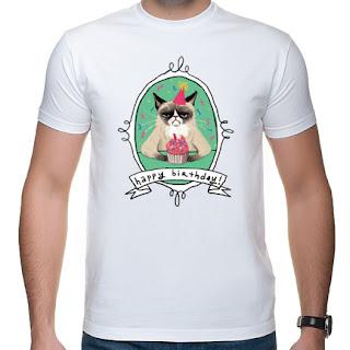 Koszulka Happy Birthday Grumpy cat