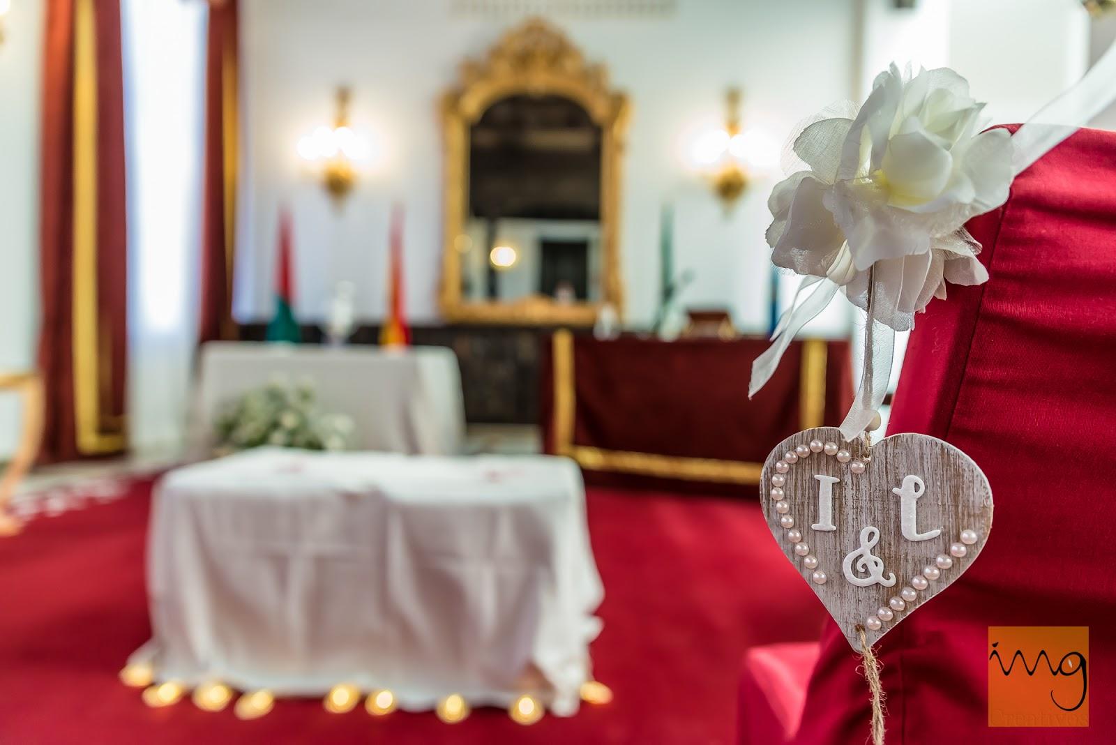 Fotografía de boda. Detalle de la decoración