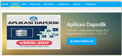 Download Aplikasi Dapodik Versi 2017