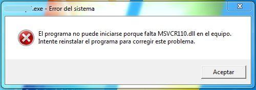 Soluci 243 N A Error Msvcr110 Dll En El Equipo Windows