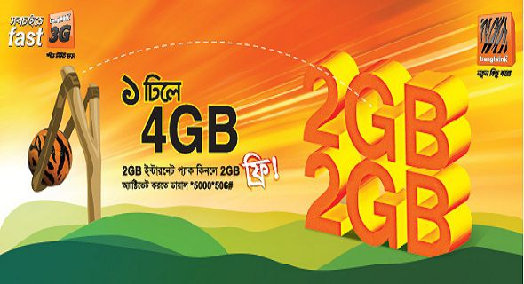 banglalink 2GB internet-data BONUS on 2GB pack