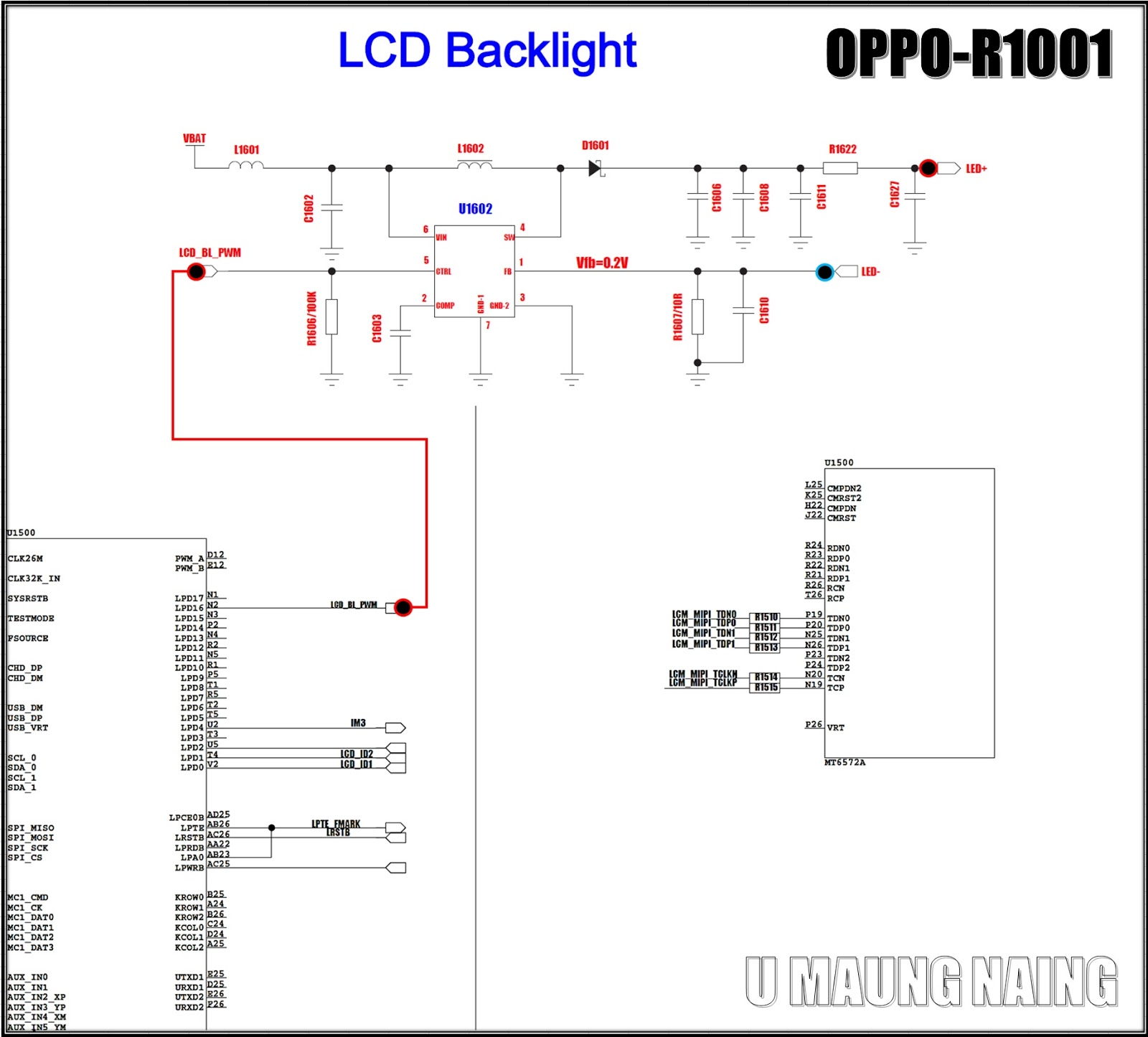 Hardware Hardware  Oppo R1001 Backlight
