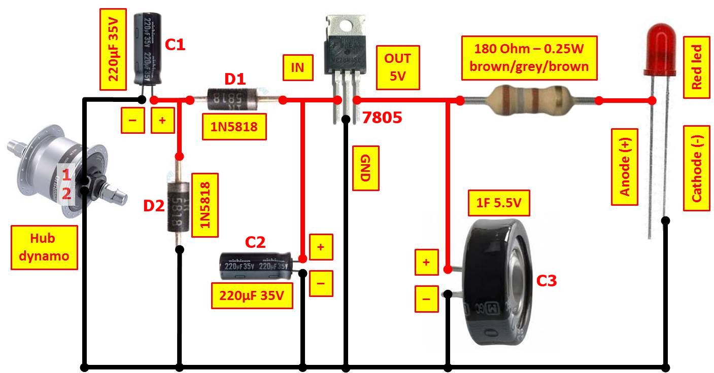 medium resolution of martin melchior s homepage make dynamo powered led bike headlight wiring diagram house wiring diagrams for lights