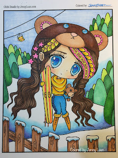 Chibi Snow trip coloring page