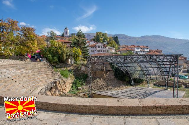 Антички театар - Охрид, Македонија - поглед кон сцената