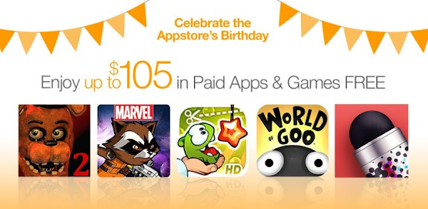 Amazon Appstore celebrates 4th birthday with up to $105 of free apps and games