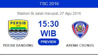 Prediksi Persib Bandung vs Arema Cronus - TSC 2016