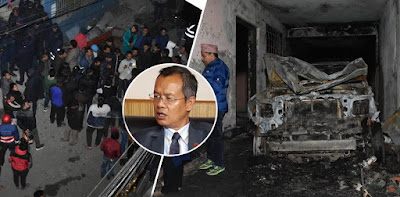 भरर्खरै बैदेशिक रोजगार व्यवसायी संघका अध्यक्षको  घरमा बम विस्फोट, ४ जना घाइते