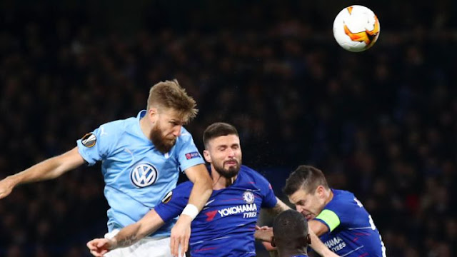 Chelsea FC Giroud against Malmoe FF