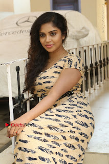 Telugu Actress Karunya Chowdary Stills in Short Dress at ATM Not Working Press Meet  0185.jpg
