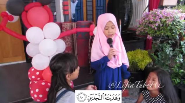 Youtubers cilik, Lifia membacakan beberapa surah pendek di hari ulang tahunnya yang ke