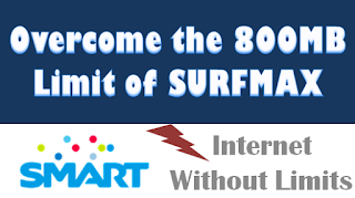 tutorial bypass, Surfmax, surfmaxplus, 800MB, data, cap, limit, bandwidth, Smart, KickStart, Smartbro