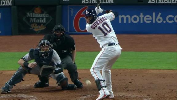 Doble del espirituano produjo la segunda carrera de los Astros, que derrotaron por la mínima a los Yankees 2 carreras por 1.