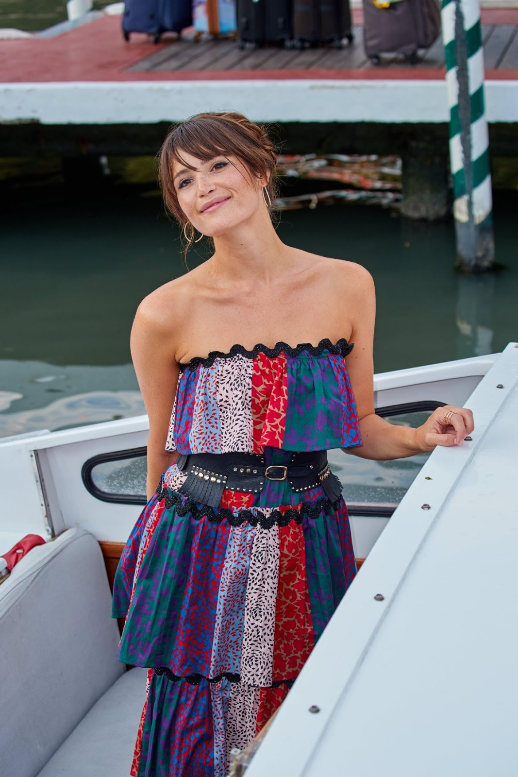 HQ Photos of Gemma Arterton Boarding A Private Water Taxi In Venice