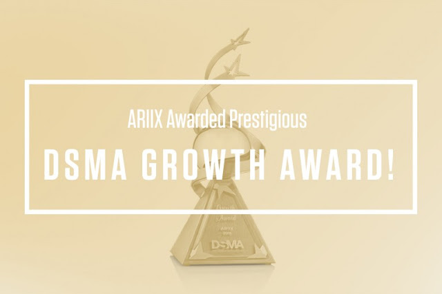 ARIIX PROUDLY RECEIVES THIS YEAR'S GROWTH AWARD FROM DSMA