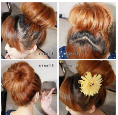 4 Step Easy Korean Hairstyle , Cute & Pretty   ON+ HAIRSTYLE TRENDS