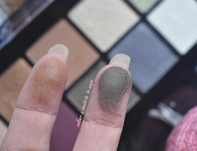 Swatches de la Paleta de Sombras Olive You, Perfect Filter de NYX