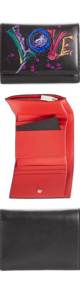 Christian Louboutin Boudoir Mini Trifold Leather Wallet