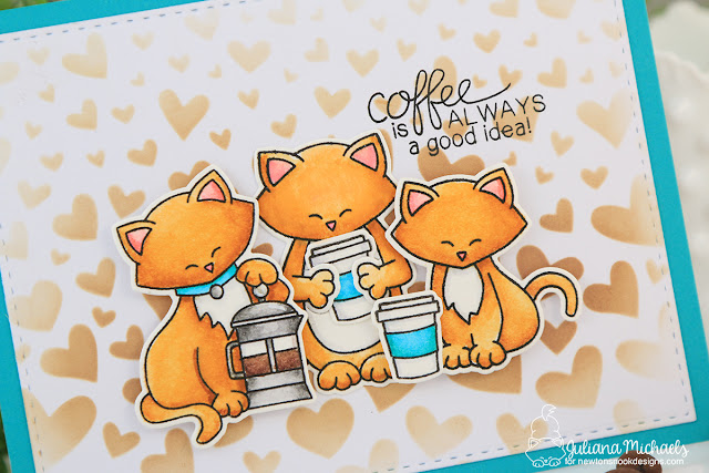 Coffee Card by Juliana Michaels featuring Newton's Nook Designs Stamps and Stencils