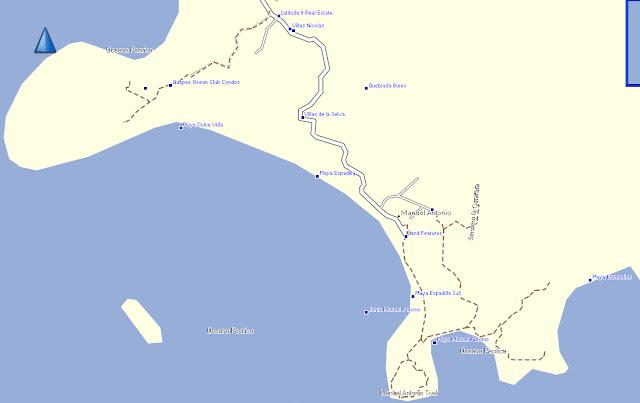 Rica Costa Street Jaco Maps