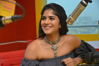 Mega Akash in a sleeveless Off Shoulder Cute Dress Stunnign beauty at Radio Mirchi Promoting Movie LIE ~ Celebrities Galleries 013.JPG