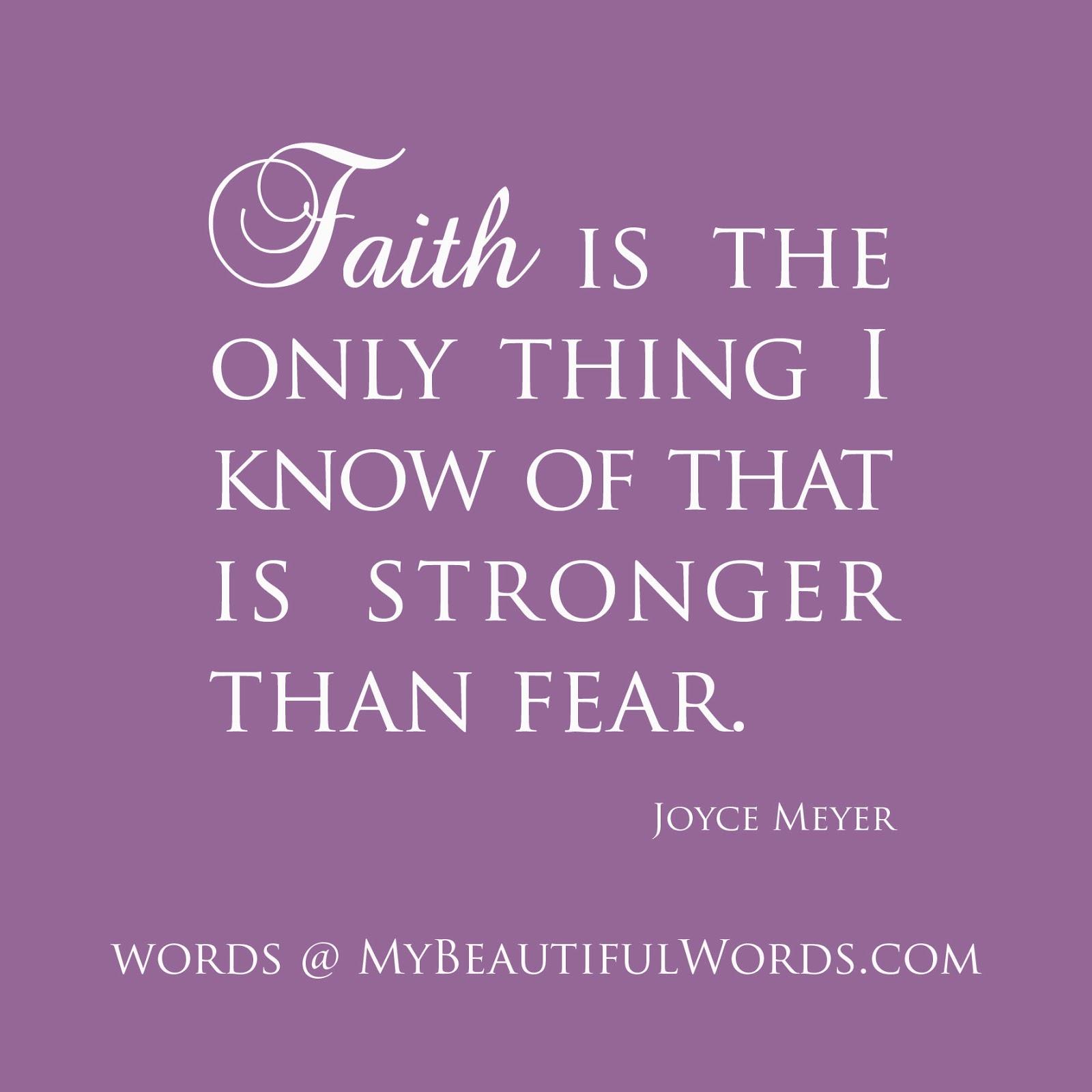 My Beautiful Words.: Faith