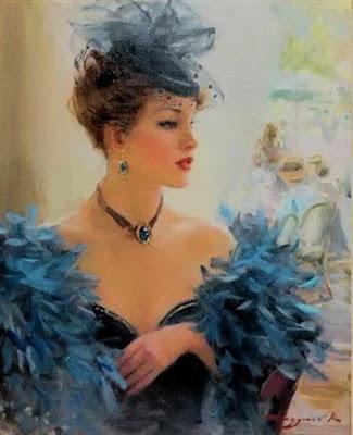 Retratos Rusos al Óleo de Señoras Elegantes y Sexis