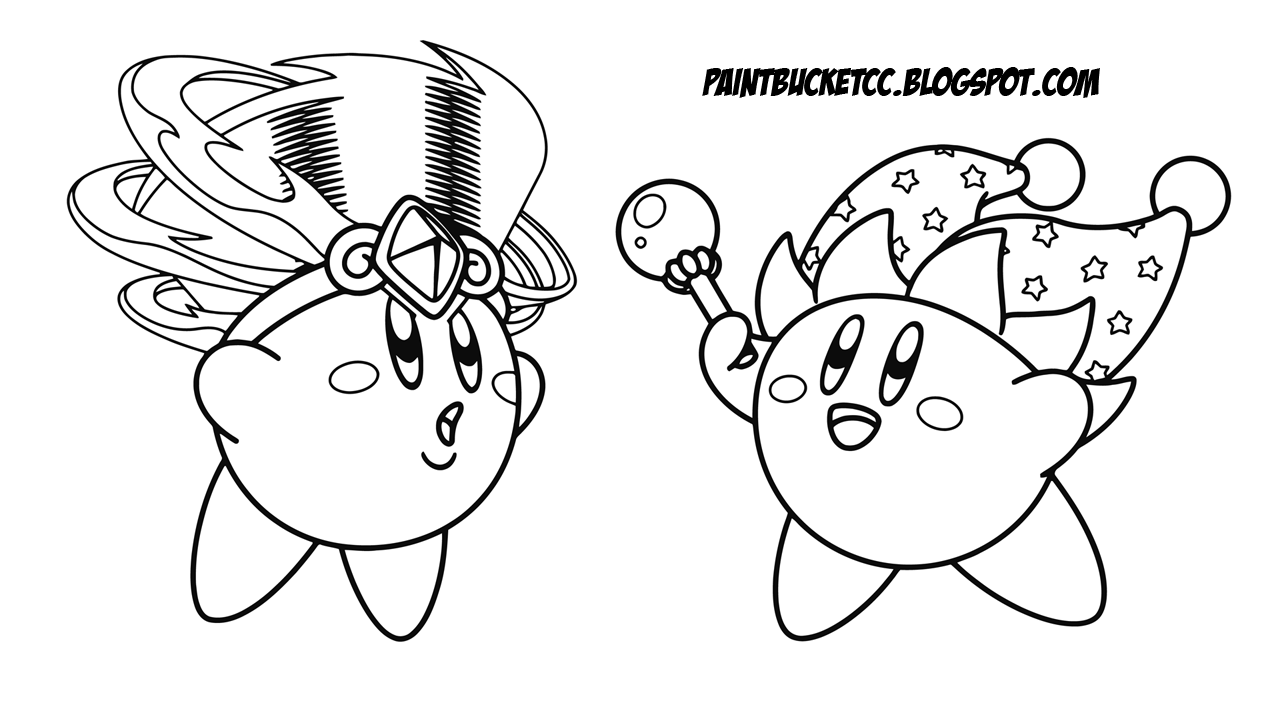paint bucket coloring pages and pixel art kirby coloring pages