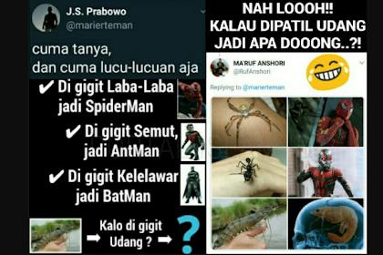 Ngakak! Digigit Laba-laba Jadi Spiderman, Digigit Kelelawar Jadi Batman, Dipatil Udang Jadi Apa?