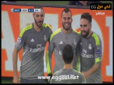 اهداف مباراة ريال مدريد و روما  الاربعاء 17-2-2016