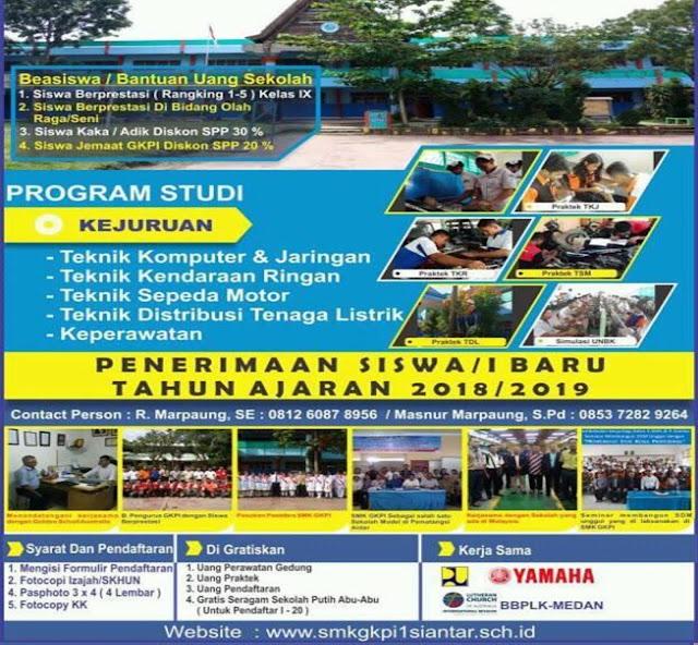 Ada Beasiswa, Ini Syarat Mendaftar di SMK GKPI 1 Pematangsiantar TA.2018/2019