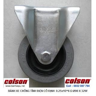 Bánh xe đẩy kháng tĩnh điện Colson càng cố định phi 90 | 2-3608-445C www.banhxepu.net