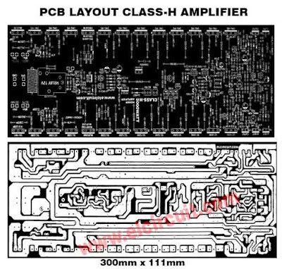 PCB Layout Power Amplifier class-H work