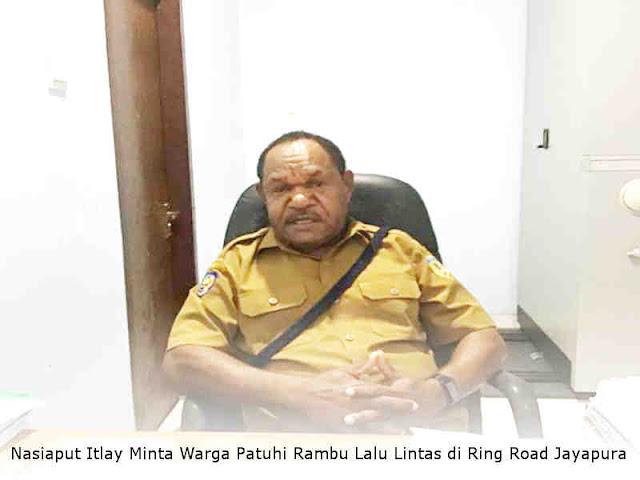Nasiaput Itlay Minta Warga Patuhi Rambu Lalu Lintas di Ring Road Jayapura