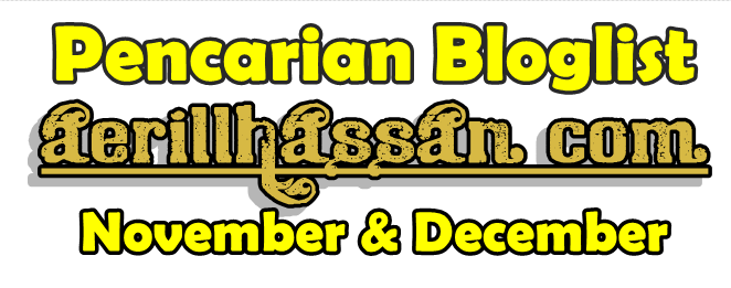 Pencarian Bloglist November & December