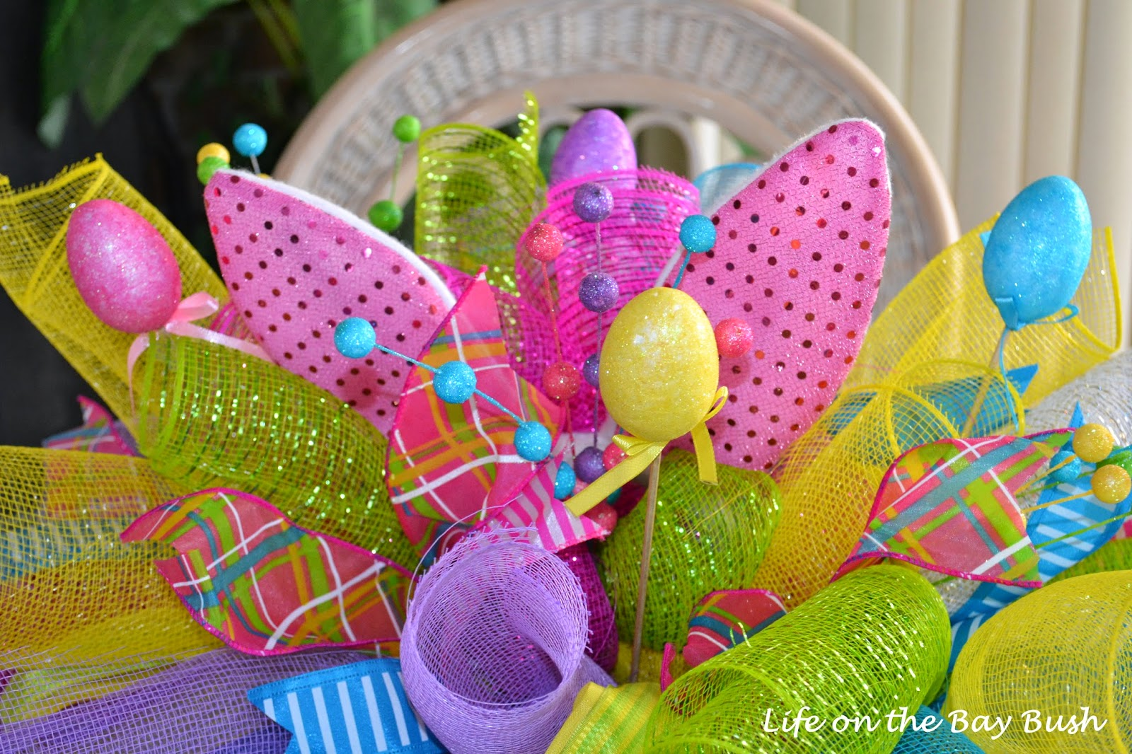 Finally We Added Easter Eggs On Sticks Found At The Dollar Tree And A Few Other Fillers