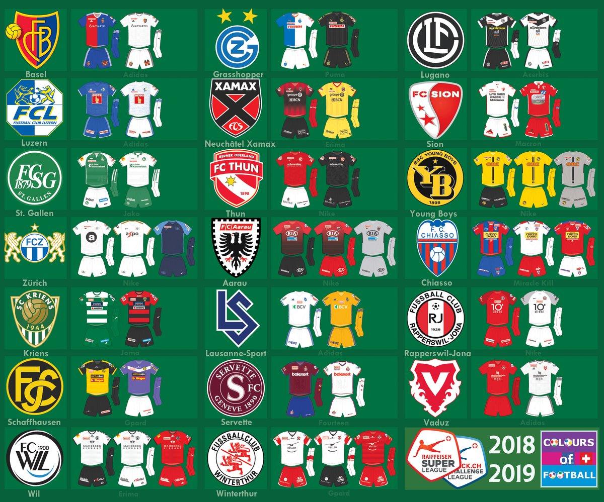4f9965c14c Confira todas as camisas dos clubes do Campeonato Suíço 2018 19 ...