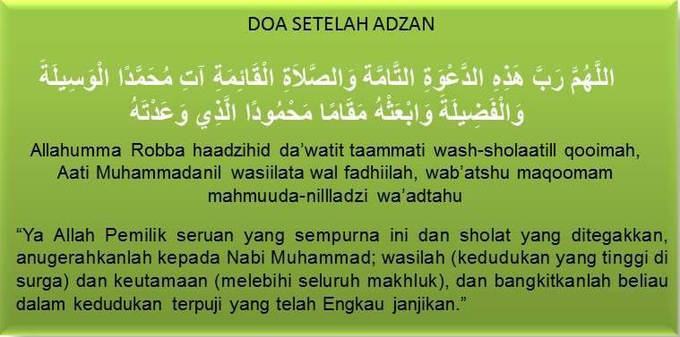 Amalia Islam Doa Setelah Adzan