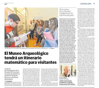 Paseo Matemático   Museo Arqueológico Provincial Badajoz. HOY
