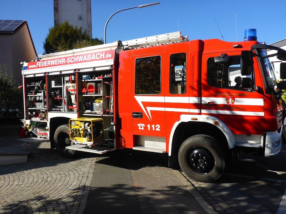 Пожарная машина, лестница, генератор
