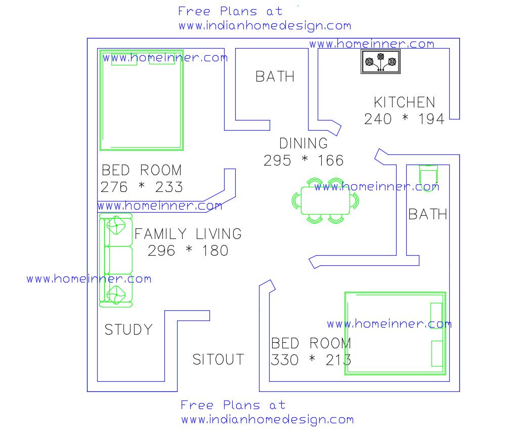 Surprising Kerala Style Home Plan 2 Bedroom 470 Sq Ft Kerala Home Planner Inspirational Interior Design Netriciaus