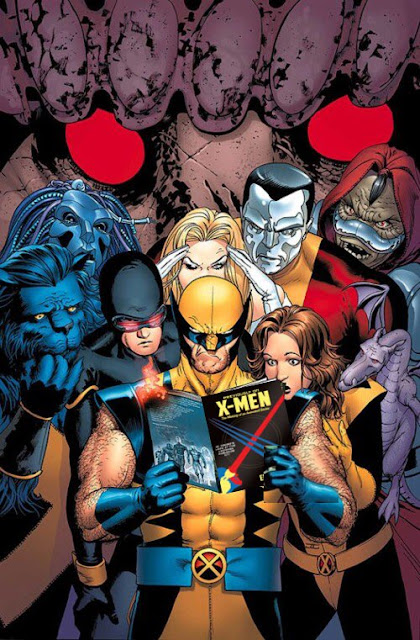 The X-Men Reading 'Previously on X-Men'