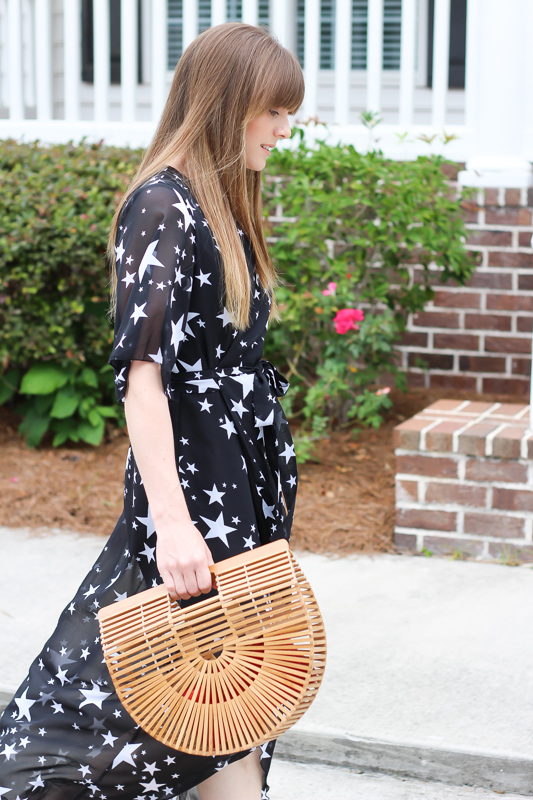 Summer dresses and basket bags