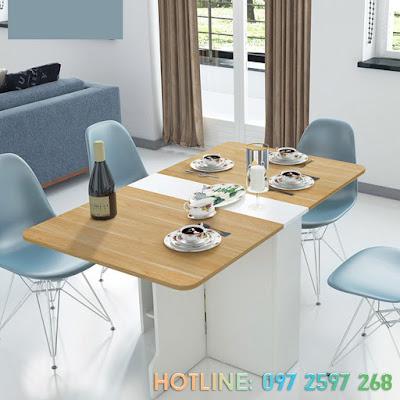 Bàn ăn hiện đại cho không gian chung cư nhỏ 1