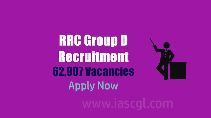 62,907 Vacancies at RRC   Notification released by RRB for Group D posts - Apply Now