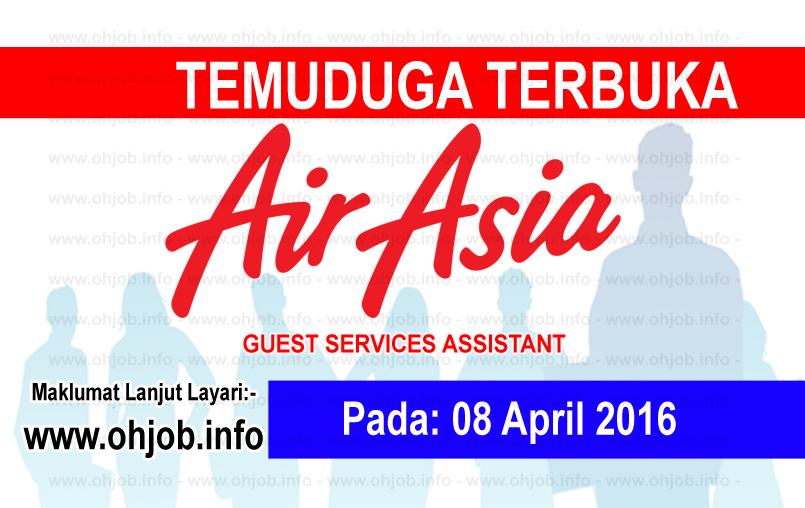 Jawatan Kerja Kosong AirAsia Berhad logo www.ohjob.info april 2016