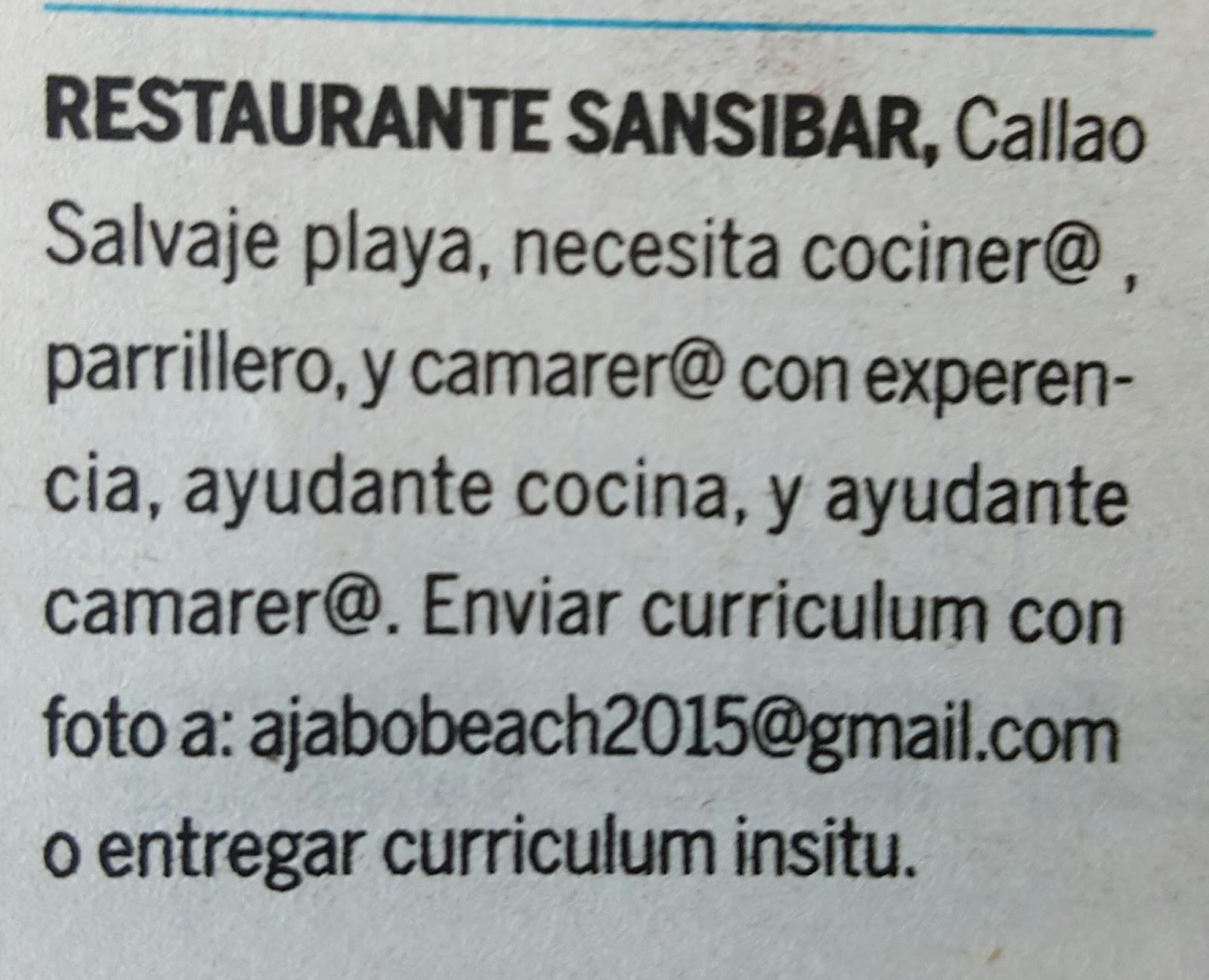 FPEmpleo: Oferta empleos en Callao Salvaje playa, TenerifeSur